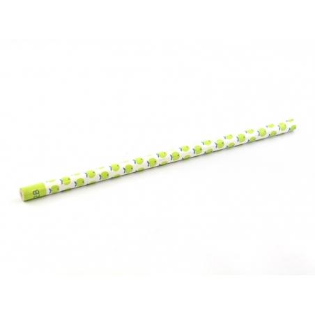 Crayon à papier motifs vintage - vert pomme