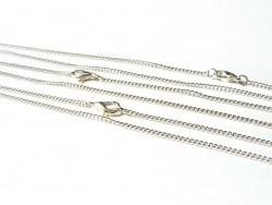 Collier ras de cou chaine goumette couleur argent - 39 cm  - 3