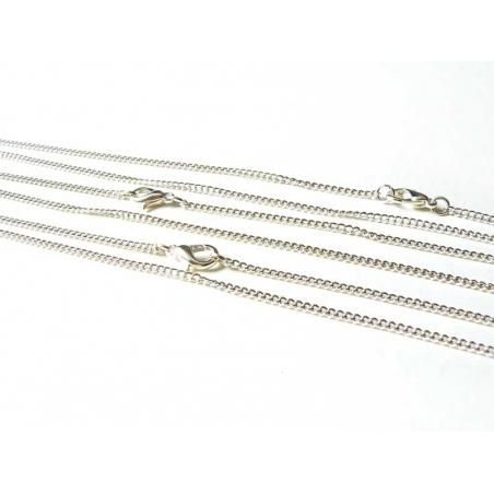 454a1dfa656 Collier ras de cou chaine goumette couleur argent - 39 cm- pour ...