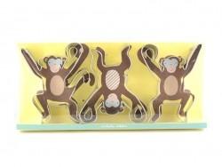 3 emporte-pièces - singe