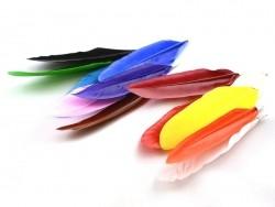 Feather pendant - orange