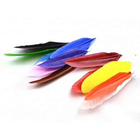 Acheter Une plume breloque - rose - 0,59€ en ligne sur La Petite Epicerie - 100% Loisirs créatifs
