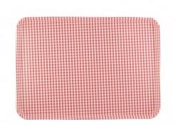 Tablett mit rotem Vichymuster