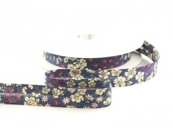 1 m of bias binding with a floral pattern - Victor (colour no. 7)