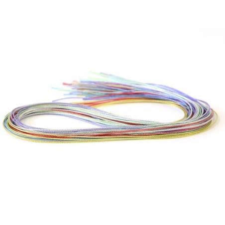 30 scoubidou strings - metallic