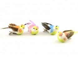 6 birds on clips