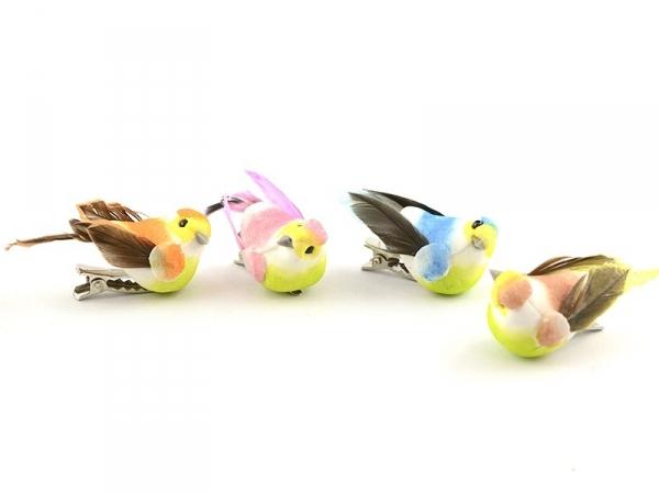 6 oiseaux sur pinces
