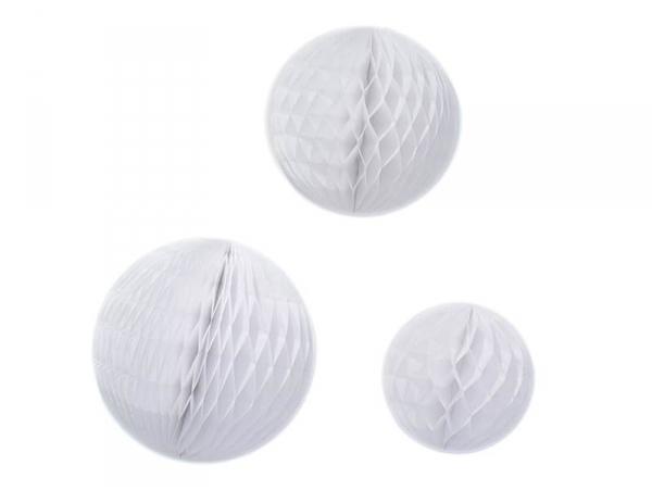 Acheter 3 boules alvéolées - blanc - 9,50€ en ligne sur La Petite Epicerie - Loisirs créatifs