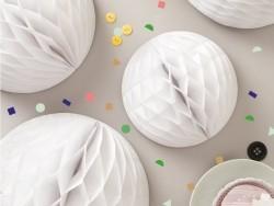 3 boules alvéolée - blanc