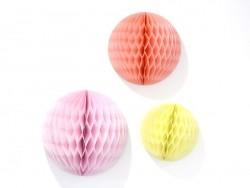 3 Wabenbälle - sommerliche Farben
