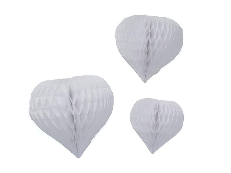 3 coeurs alvéolés - blanc Rico Design - 1