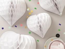 3 coeurs alvéolés - blanc