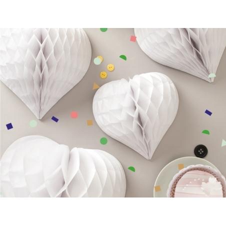 3 coeurs alvéolés - blanc Rico Design - 2