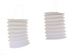 5 lanternes en papier - blanc