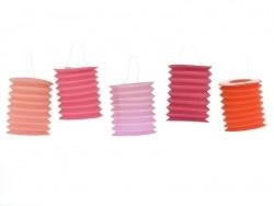 5 lanternes en papier - roses Rico Design - 1