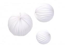 3 paper lanterns - white