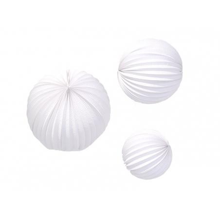 Acheter 3 lampions en papier - blanc - 8,40€ en ligne sur La Petite Epicerie - Loisirs créatifs