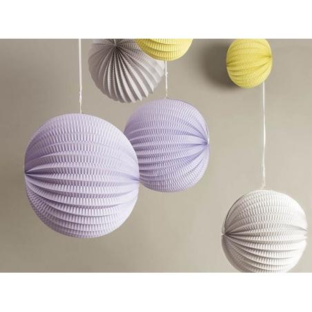 3 paper lanterns - pastel colours