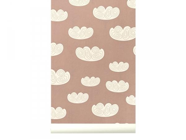 Papier Peint Rose Cloud Ferm Living Vente En Ligne Objets Decos