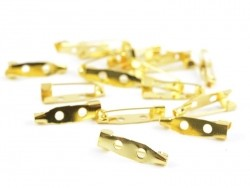 Gold-coloured brooch blank - 20 mm