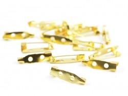 Goldfarbener Broschenrohling - 20 mm