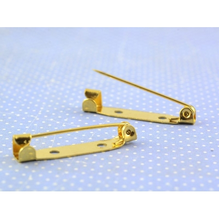 Gold-coloured brooch blank - 30 mm