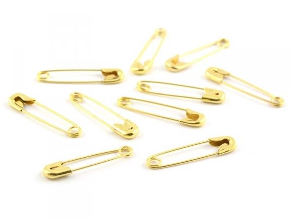 10 épingles à nourrice dorées - 20 mm  - 1