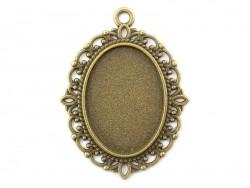 Acheter 1 breloque support pour cabochon bronze fantaisie ovale - 24 x 13 mm - 1,19€ en ligne sur La Petite Epicerie - 100% ...