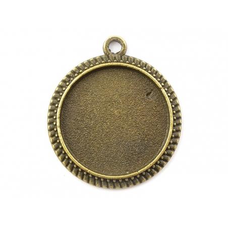 Acheter 1 breloque support pour cabochon bronze rond -15 mm - 0,59€ en ligne sur La Petite Epicerie - 100% Loisirs créatifs