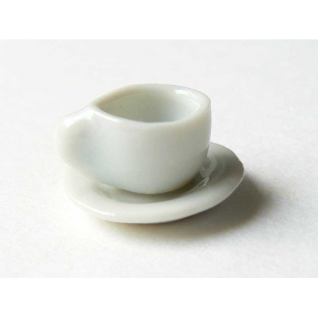 Petite tasse à thé et sa soucoupe  - 1