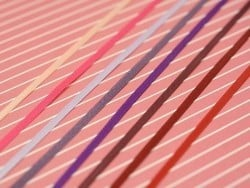 1 m de ruban satin uni rouge 250 - 3 mm