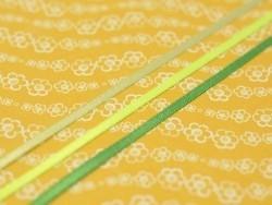 1 m de ruban satin uni vert fluo 544 - 3 mm