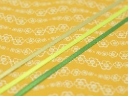 1 m de ruban satin uni vert anis 524 - 3 mm