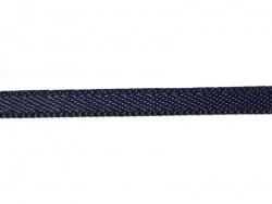 1 m einfarbiges Satinband (3 mm) - marineblau (Farbnr. 370)