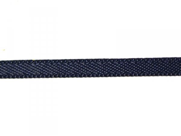 1 m de ruban satin uni bleu marine 370 - 3 mm