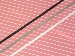 1 m einfarbiges Satinband (3 mm) - weiß (Farbnr. 029)