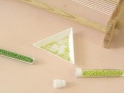 Miyuki Delicas 11/0 - opaque green (colour no. 724)