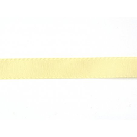 1 m de ruban satin uni jaune champagne 824 - 13 mm