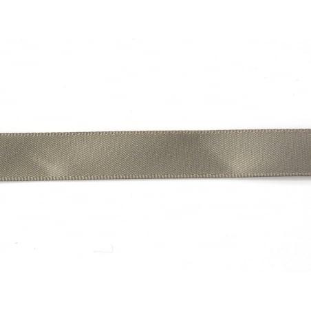 1 m de ruban satin uni gris 017 - 13 mm