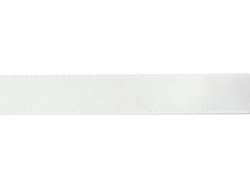 1 m de ruban satin uni blanc 029 - 13 mm  - 1