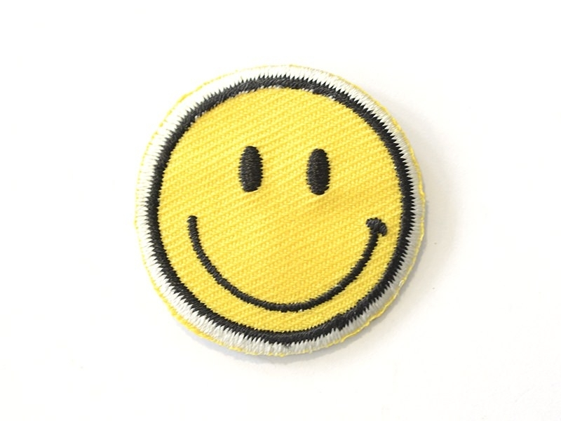 Iron-on patch - Smiley