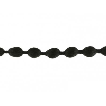 Acheter 1m galon de pompons ovales - noir 014 - 1,89€ en ligne sur La Petite Epicerie - Loisirs créatifs