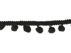 Small pom pom trim (1 m) - black (colour no. 014)