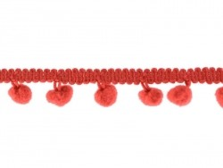 Small pom pom trim (1 m) - red (colour no. 008)
