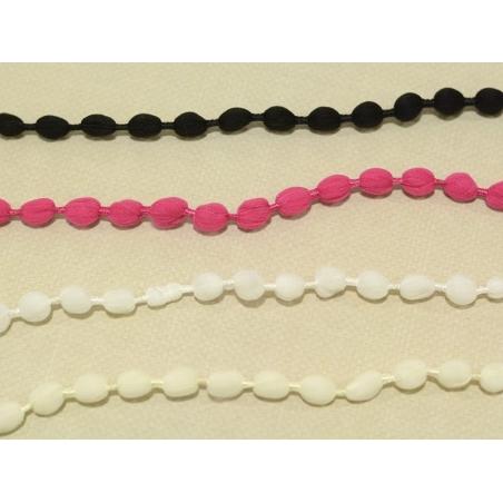 Acheter 1m galon de pompons ovales - blanc 001 - 1,89€ en ligne sur La Petite Epicerie - 100% Loisirs créatifs