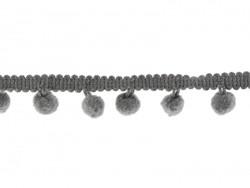 1 m lange Borte mit kleinen Bommeln - grau (Farbnr. 038)