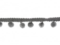 Small pom pom trim (1 m) - grey (colour no. 038)