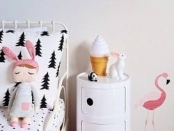 Veilleuse glace - blanc