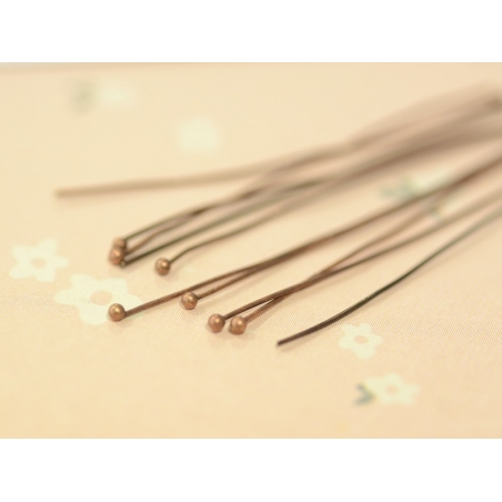 10 pins with ball-shaped heads - Copper-coloured