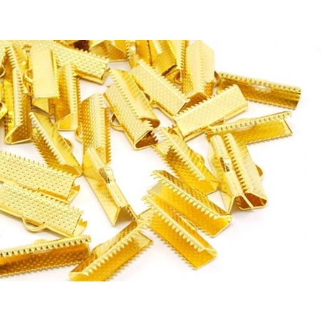 Fermoir griffe 25 mm - dorée  - 2